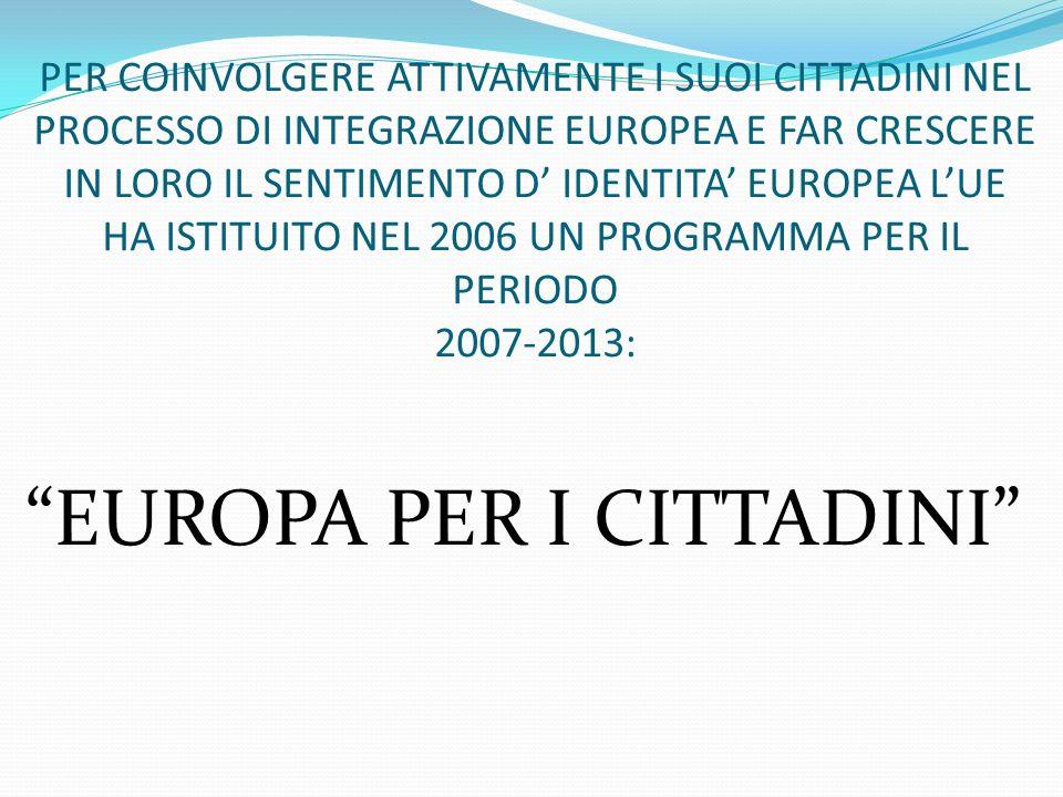 EUROPA PER I CITTADINI