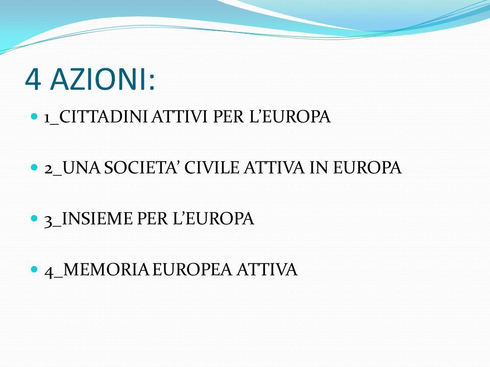 4 AZIONI: 1_CITTADINI ATTIVI PER L'EUROPA