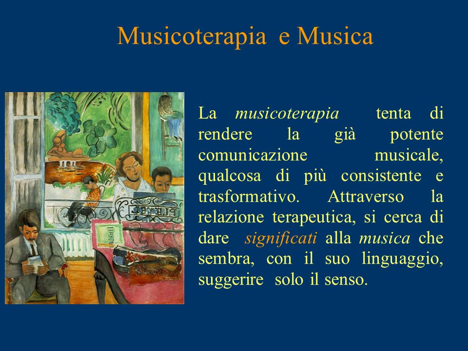 Musicoterapia e Musica