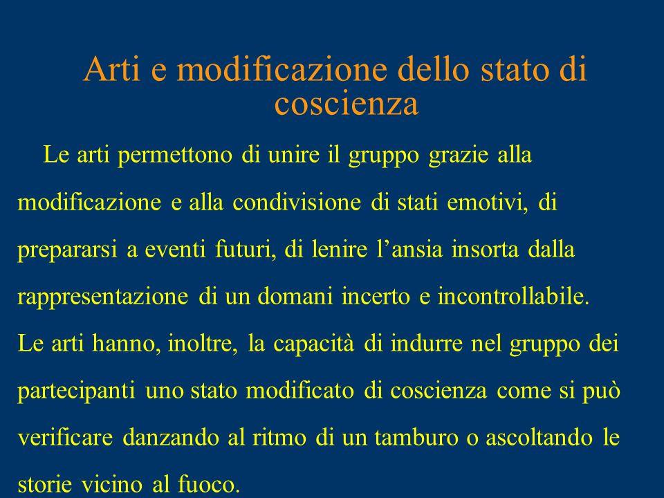 Arti e modificazione dello stato di coscienza