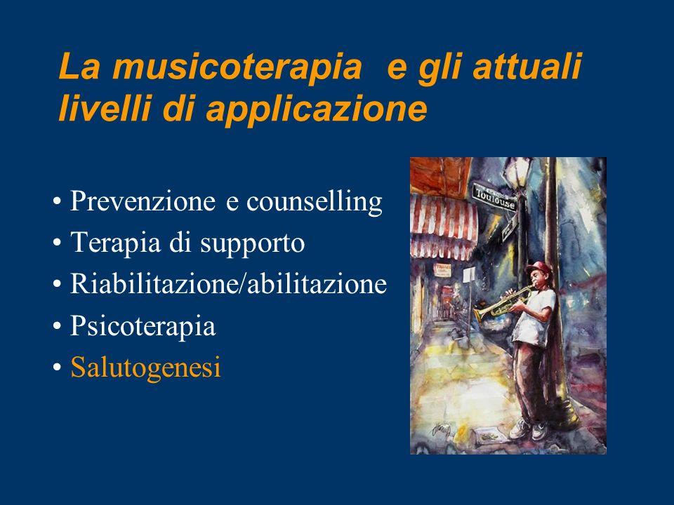 La musicoterapia e gli attuali livelli di applicazione