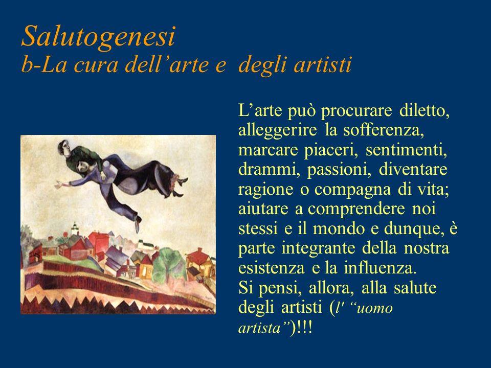 Salutogenesi b-La cura dell'arte e degli artisti