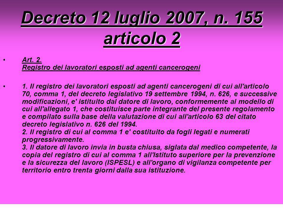 Decreto 12 luglio 2007, n. 155 articolo 2