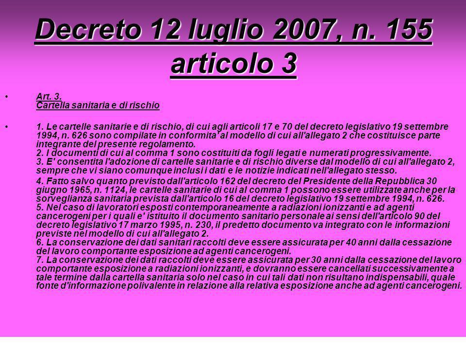 Decreto 12 luglio 2007, n. 155 articolo 3