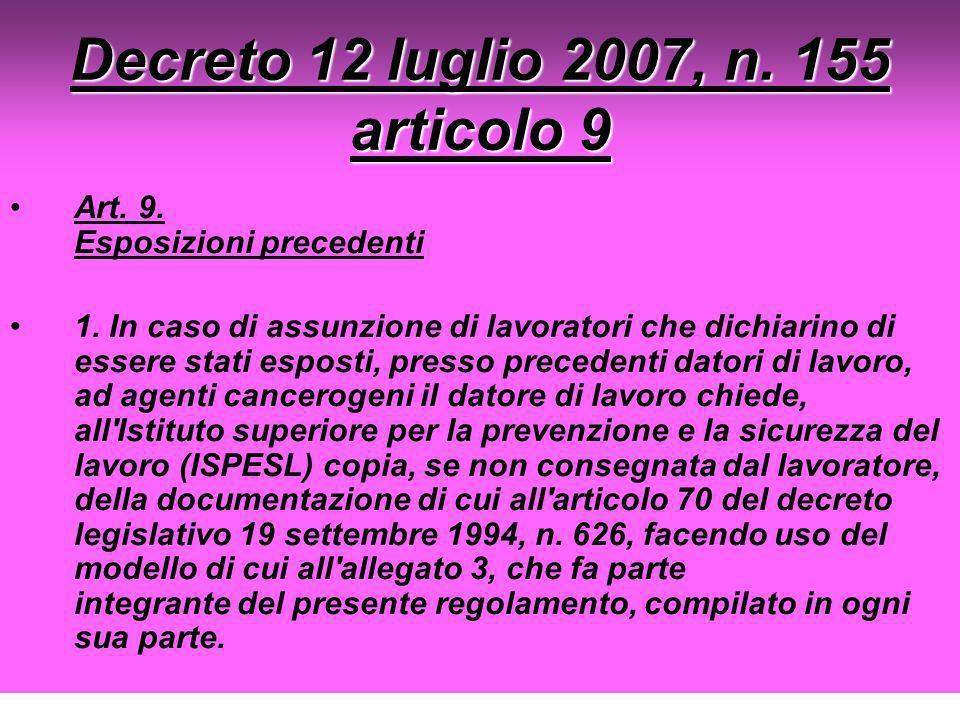 Decreto 12 luglio 2007, n. 155 articolo 9