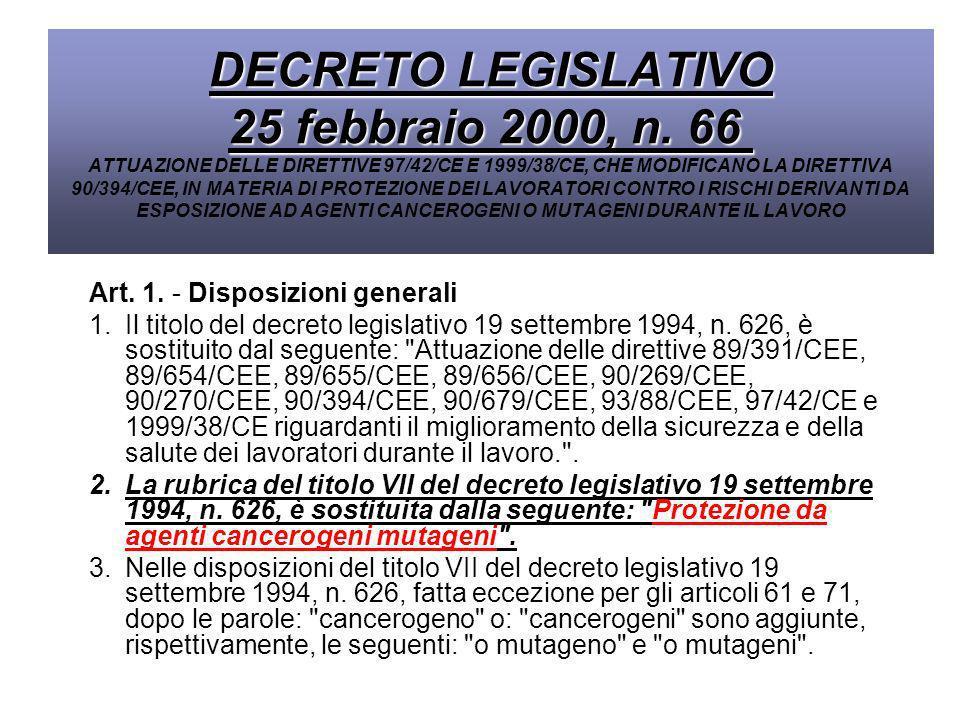 DECRETO LEGISLATIVO 25 febbraio 2000, n