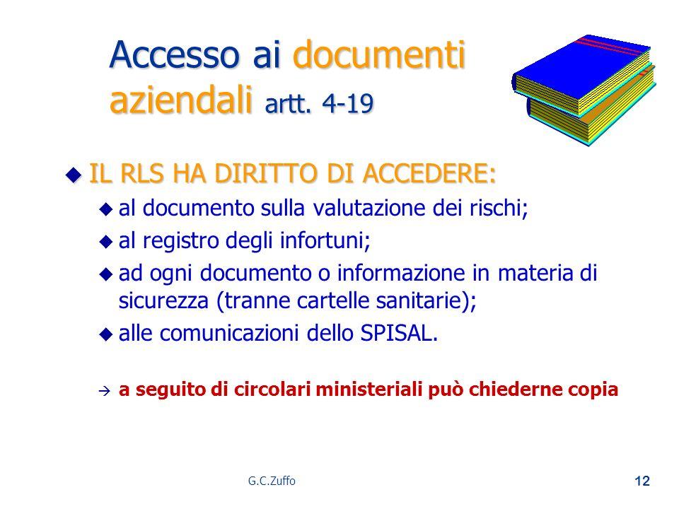 Accesso ai documenti aziendali artt. 4-19