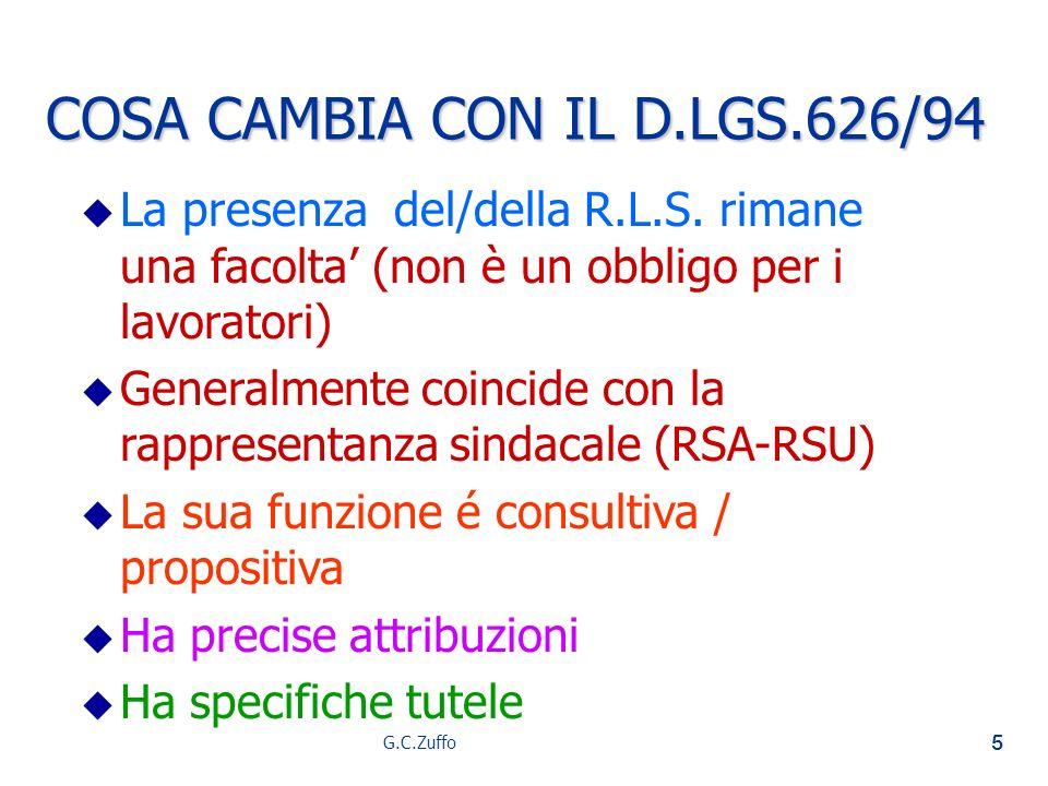 COSA CAMBIA CON IL D.LGS.626/94