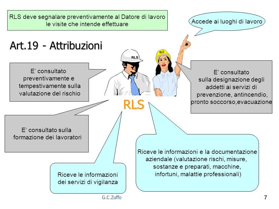 RLS deve segnalare preventivamente al Datore di lavoro