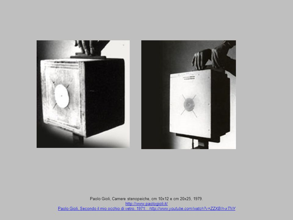 Paolo Gioli, Camere stenopeiche, cm 10x12 e cm 20x25, 1979.