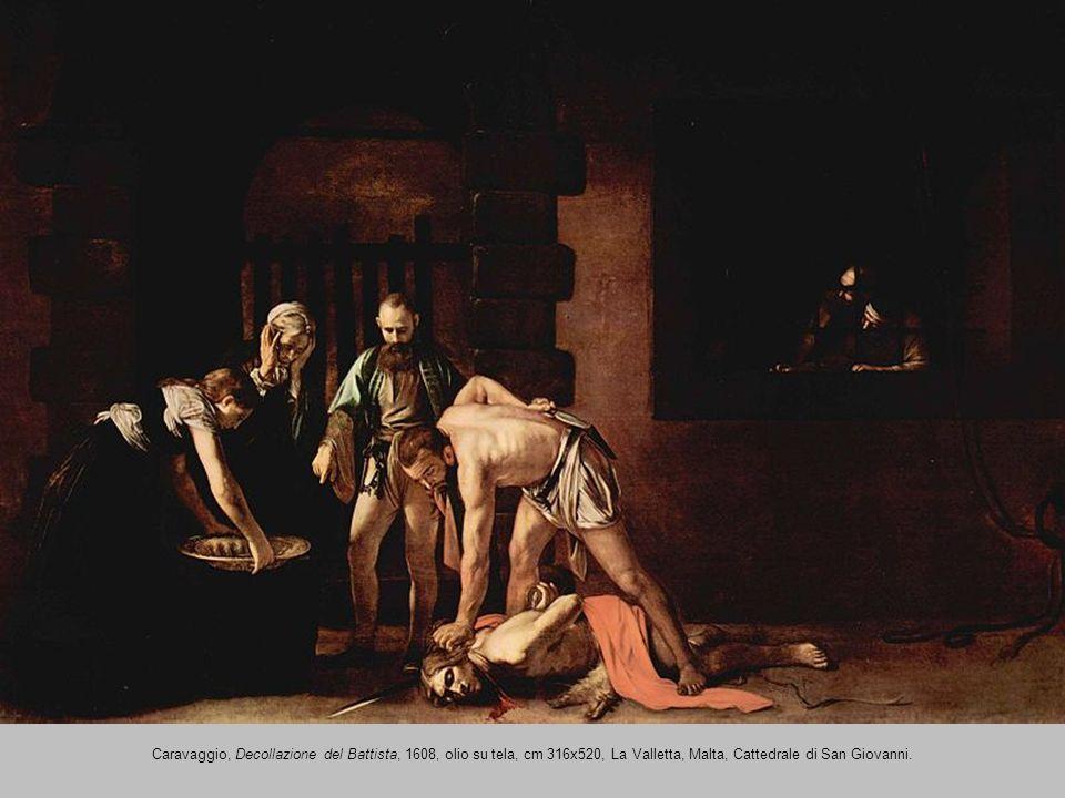 Caravaggio, Decollazione del Battista, 1608, olio su tela, cm 316x520, La Valletta, Malta, Cattedrale di San Giovanni.