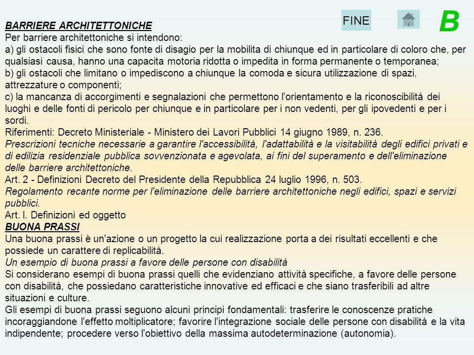 B FINE BARRIERE ARCHITETTONICHE