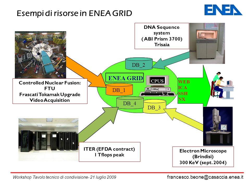 Esempi di risorse in ENEA GRID