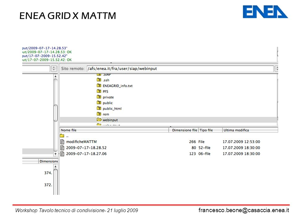 ENEA GRID X MATTM francesco.beone@casaccia.enea.it