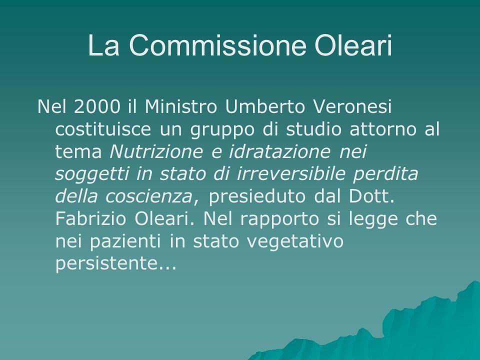 La Commissione Oleari