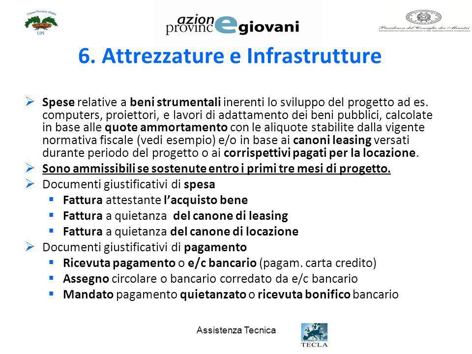 6. Attrezzature e Infrastrutture