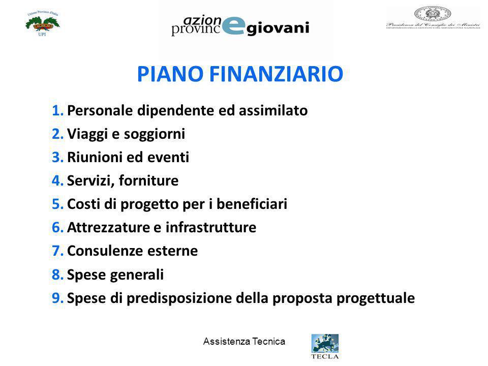 PIANO FINANZIARIO Personale dipendente ed assimilato