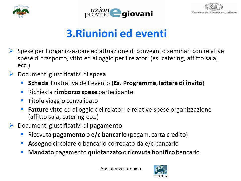 3.Riunioni ed eventi