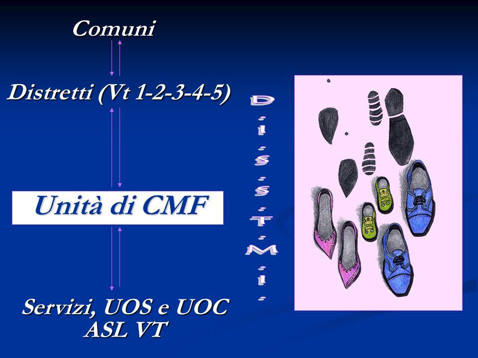 Unità di CMF D.I.S.S.T.M.I. Comuni Distretti (Vt 1-2-3-4-5)