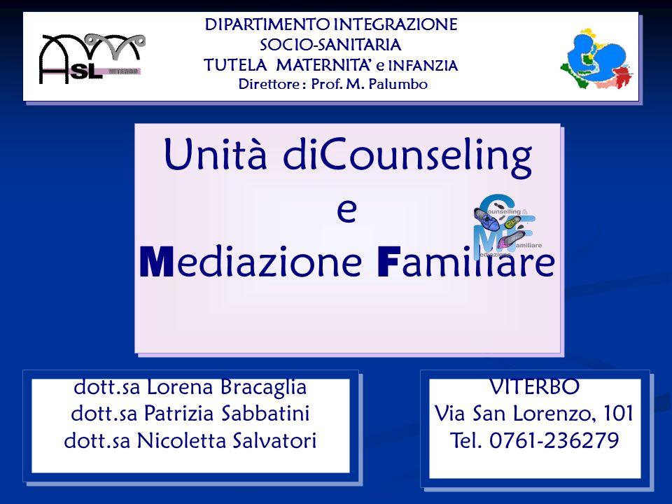Unità diCounseling e Mediazione Familiare dott.sa Lorena Bracaglia