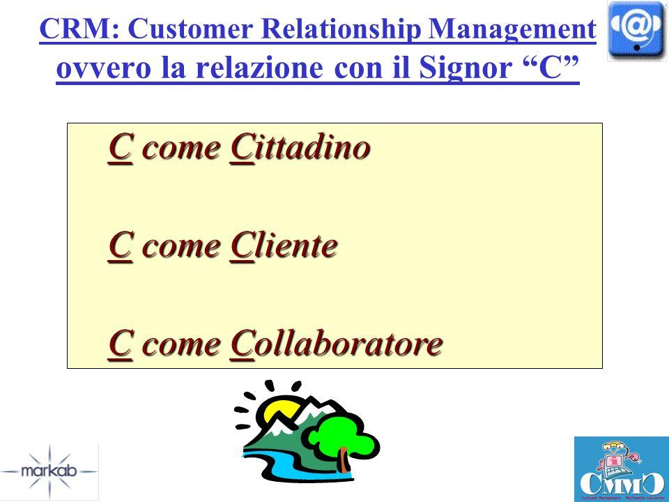 C come Cittadino C come Cliente C come Collaboratore