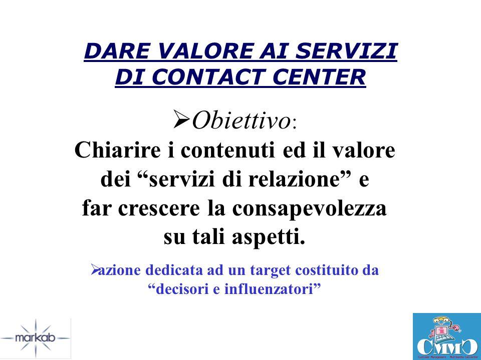 DARE VALORE AI SERVIZI DI CONTACT CENTER