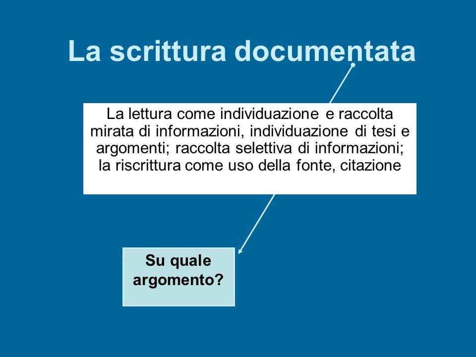 La scrittura documentata