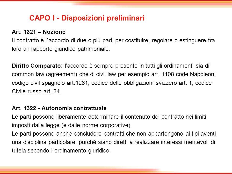 CAPO I - Disposizioni preliminari