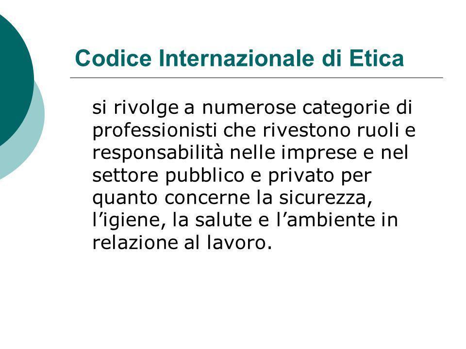 Codice Internazionale di Etica