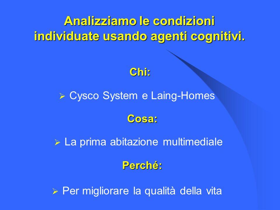 Analizziamo le condizioni individuate usando agenti cognitivi.