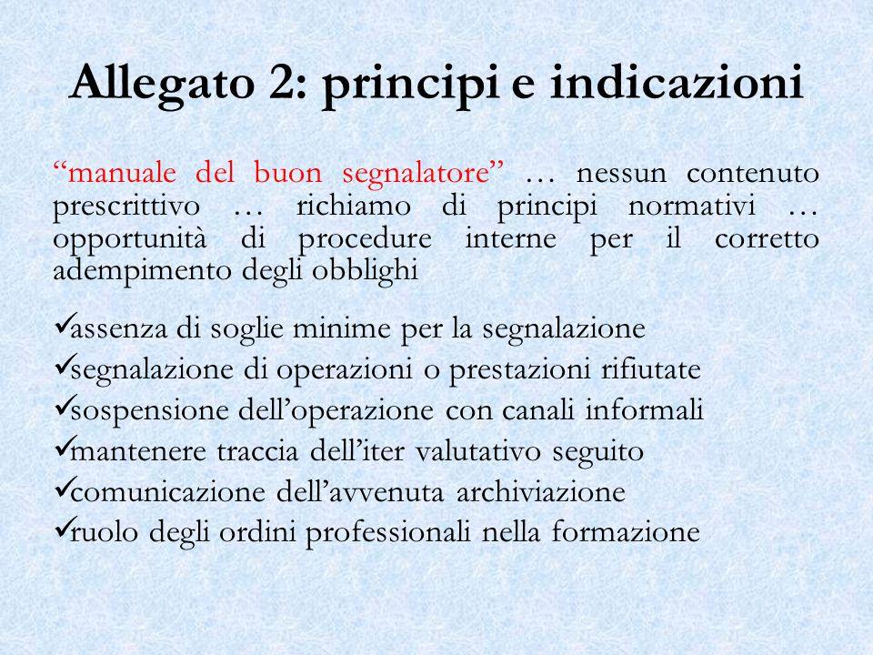 Allegato 2: principi e indicazioni