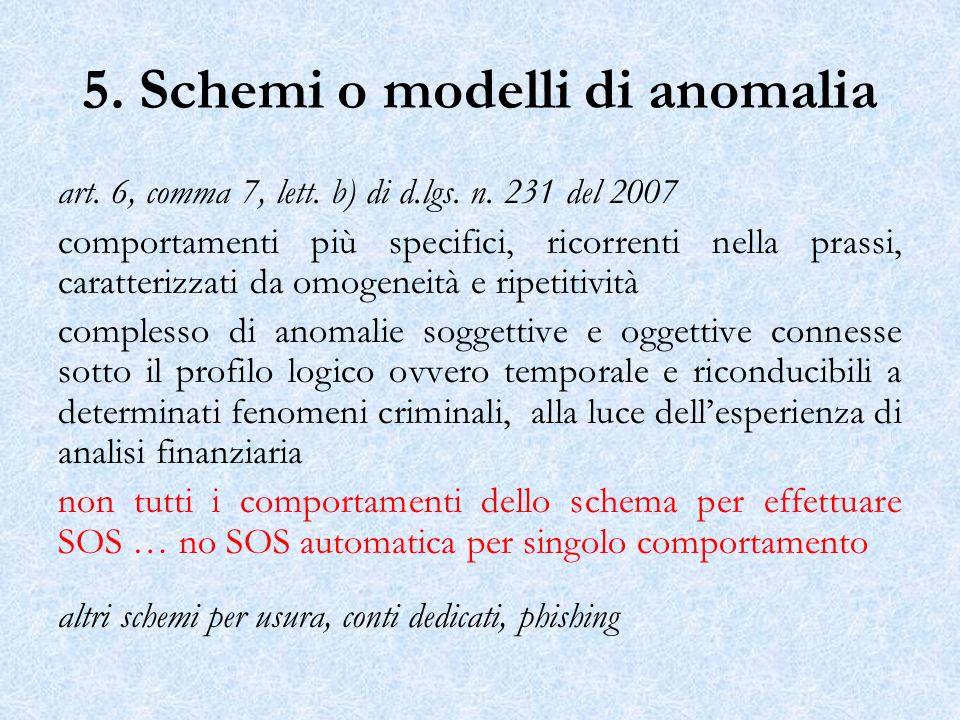 5. Schemi o modelli di anomalia