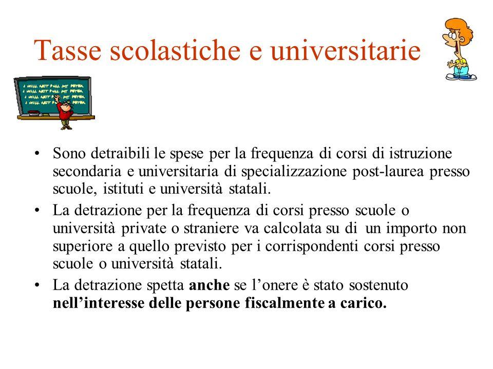 Tasse scolastiche e universitarie