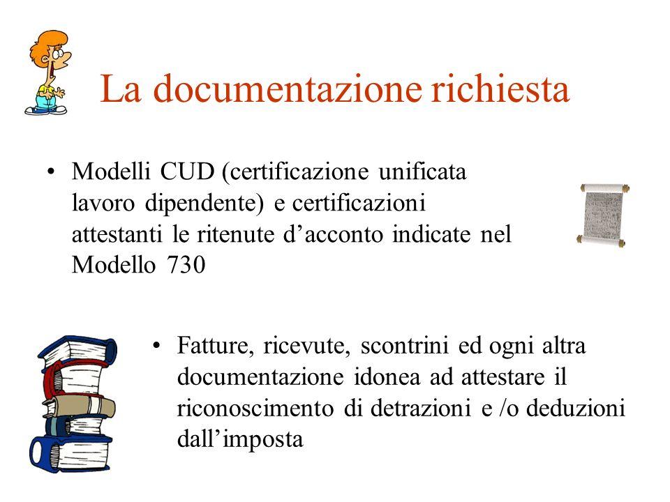 La documentazione richiesta