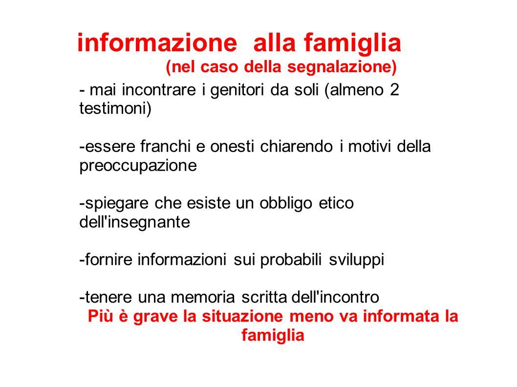 informazione alla famiglia