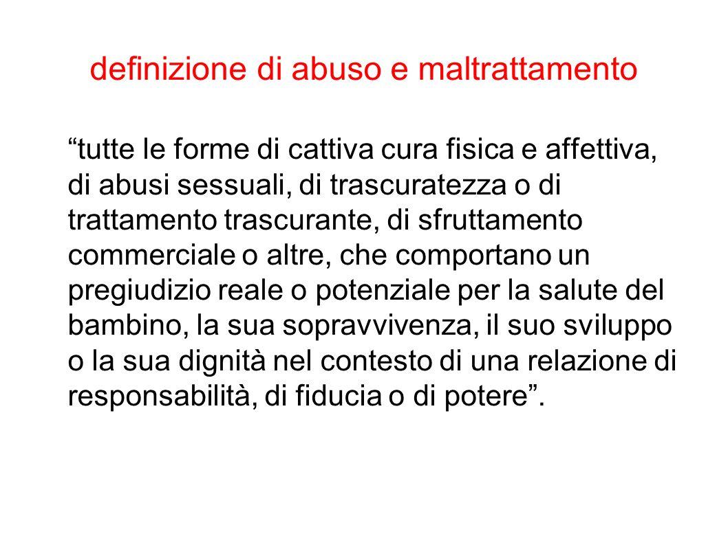 definizione di abuso e maltrattamento