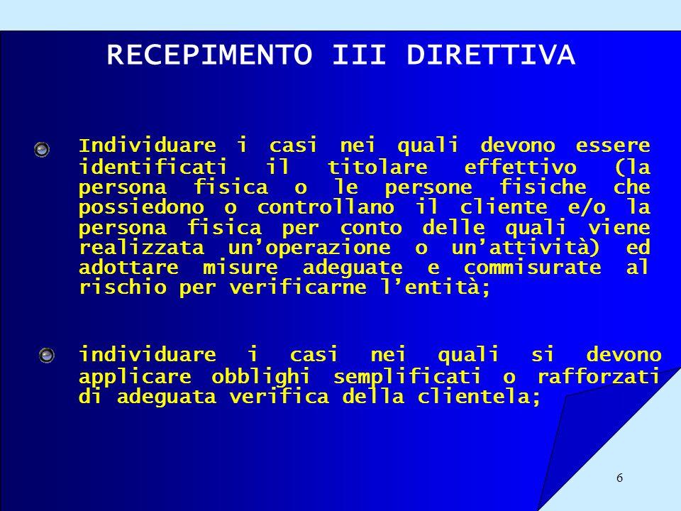 RECEPIMENTO III DIRETTIVA