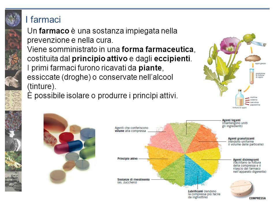 29/09/12I farmaci. Un farmaco è una sostanza impiegata nella prevenzione e nella cura.