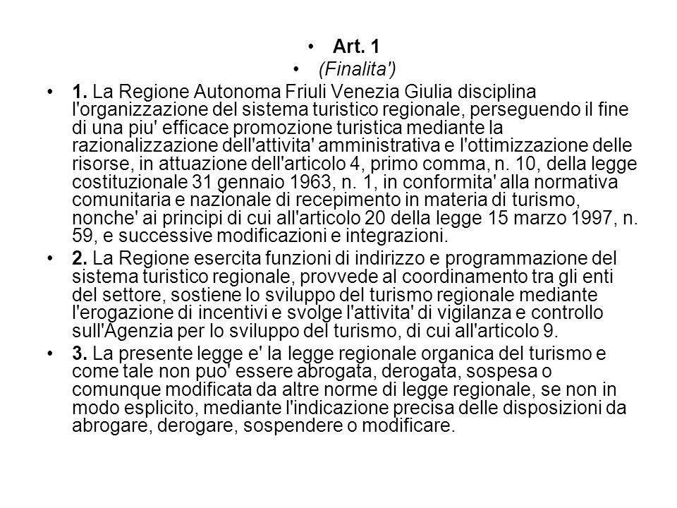 Art. 1 (Finalita )