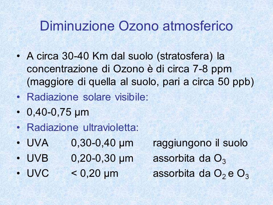 Diminuzione Ozono atmosferico