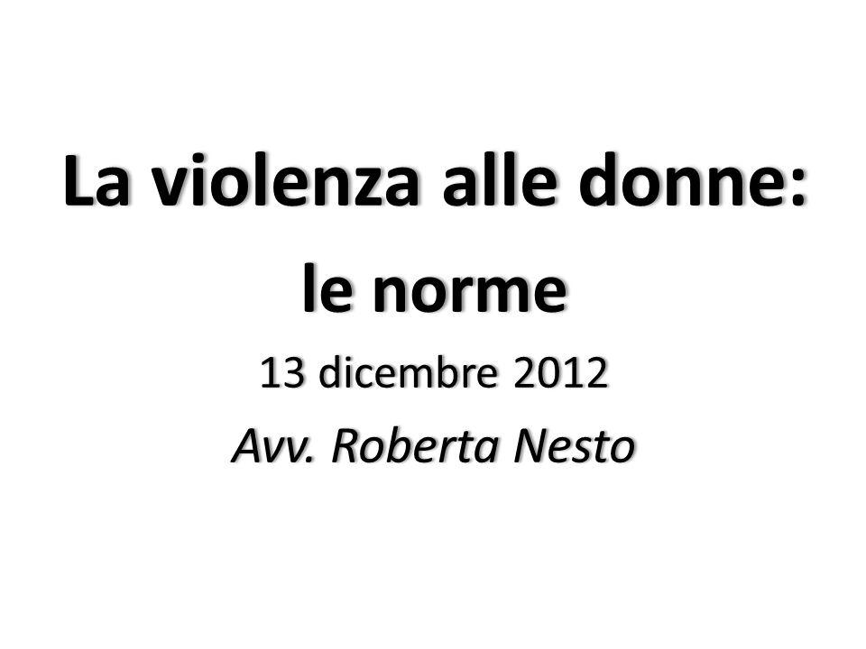 La violenza alle donne:
