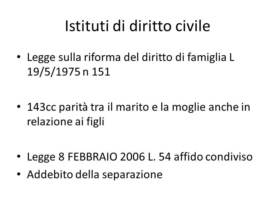 Istituti di diritto civile