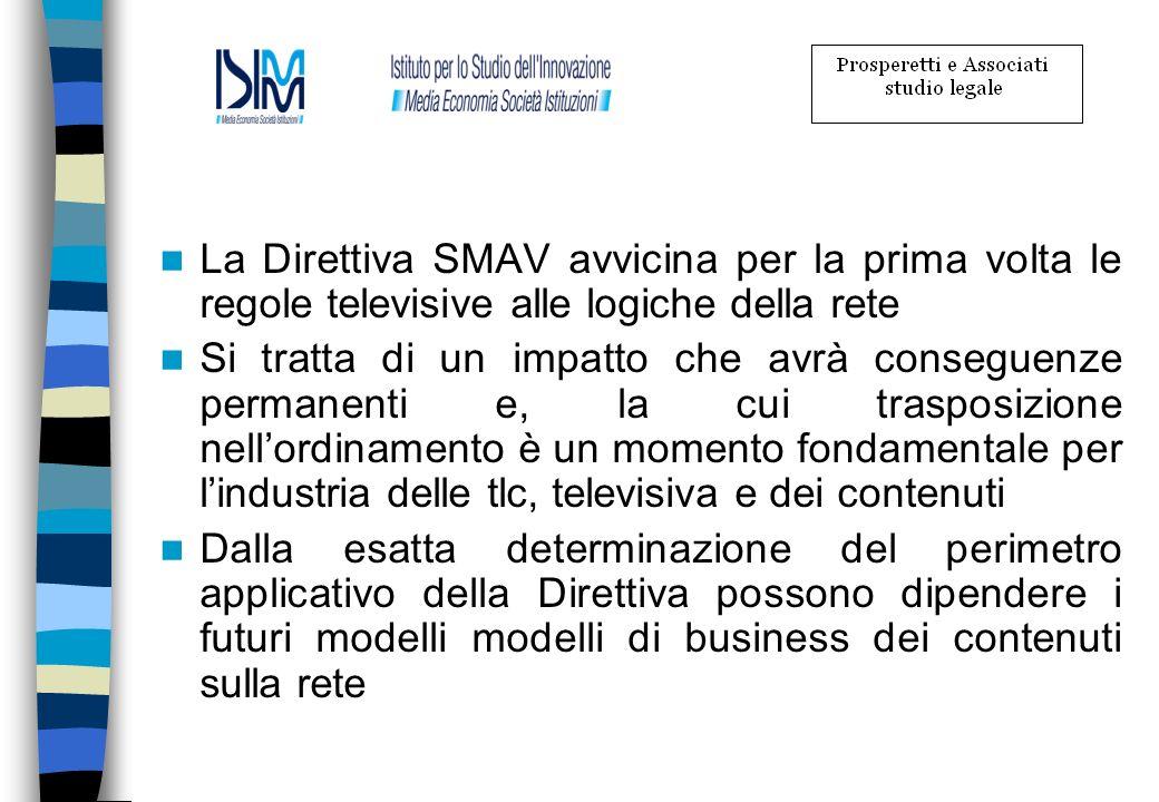 La Direttiva SMAV avvicina per la prima volta le regole televisive alle logiche della rete