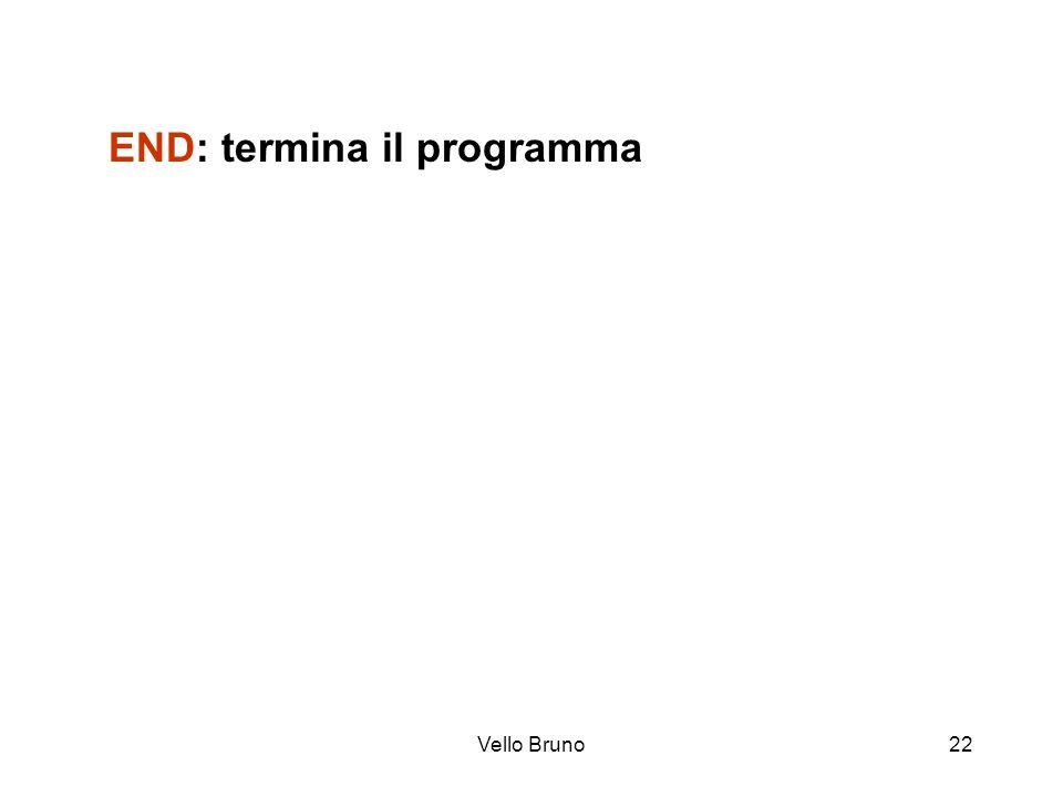 END: termina il programma