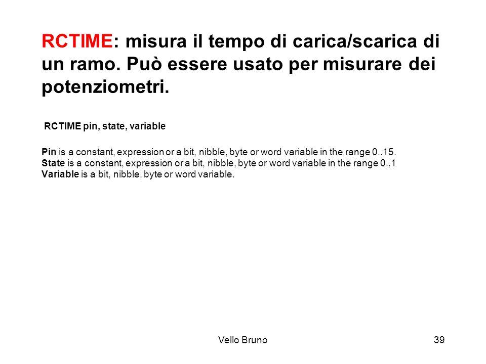 RCTIME: misura il tempo di carica/scarica di un ramo