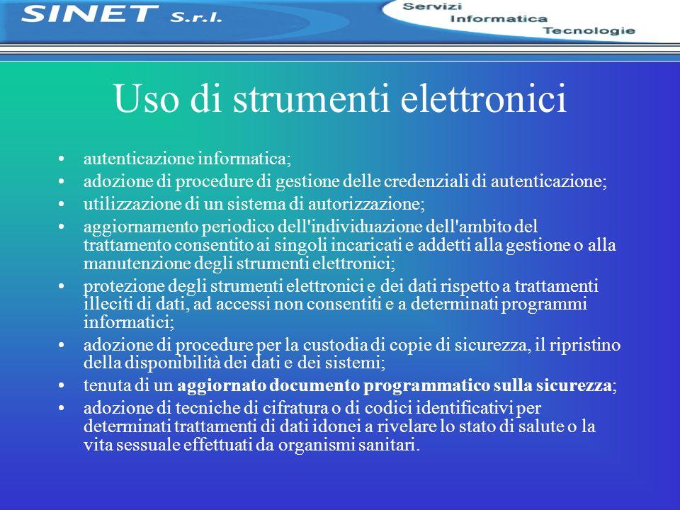 Uso di strumenti elettronici