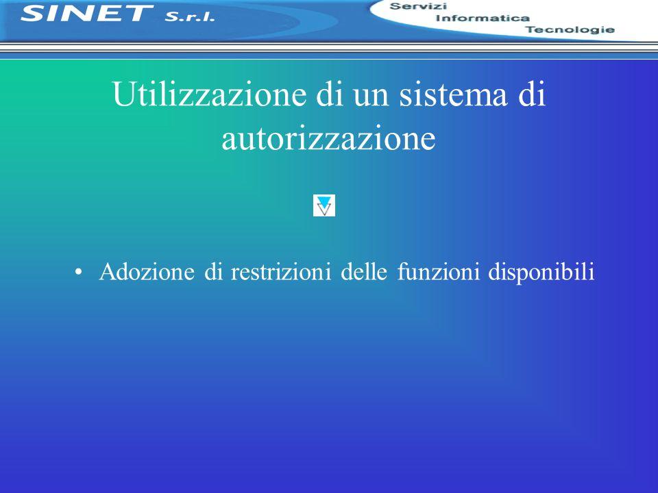 Utilizzazione di un sistema di autorizzazione