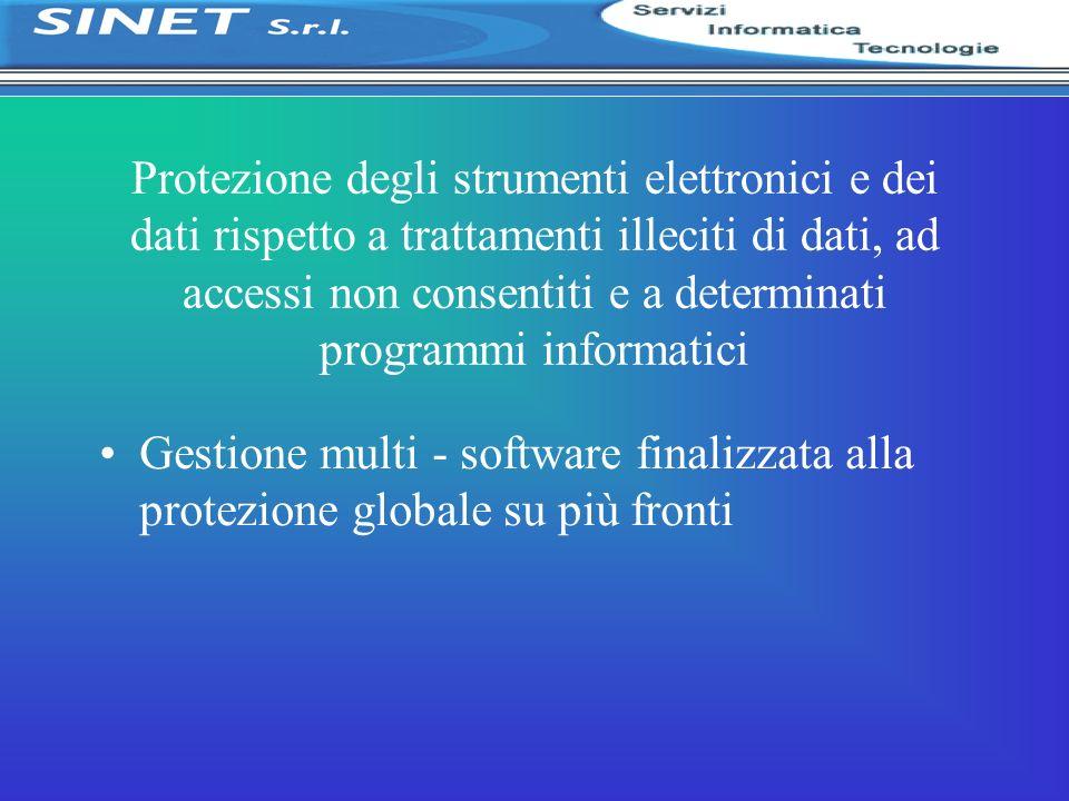 Protezione degli strumenti elettronici e dei dati rispetto a trattamenti illeciti di dati, ad accessi non consentiti e a determinati programmi informatici