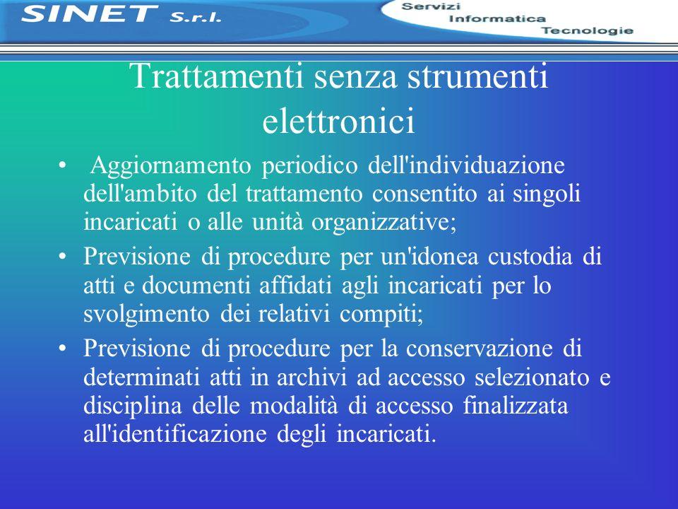 Trattamenti senza strumenti elettronici