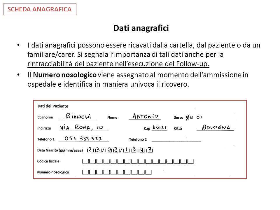 SCHEDA ANAGRAFICA Dati anagrafici.